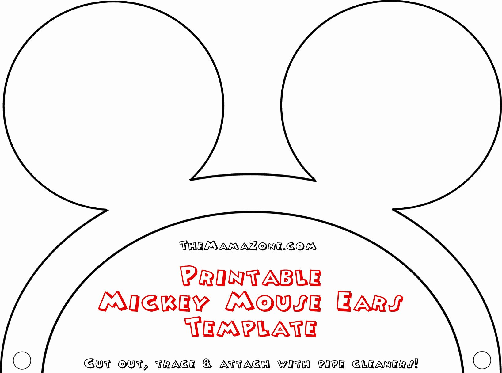 Mouse Cut Out Template Fresh Mickey Mouse Ears Template Headband Cliparts
