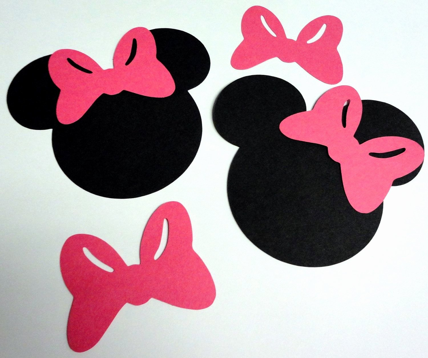 "Mouse Cut Out Template Luxury 50 5"" Minnie Mouse Head Silhouettes Black Cutouts with"