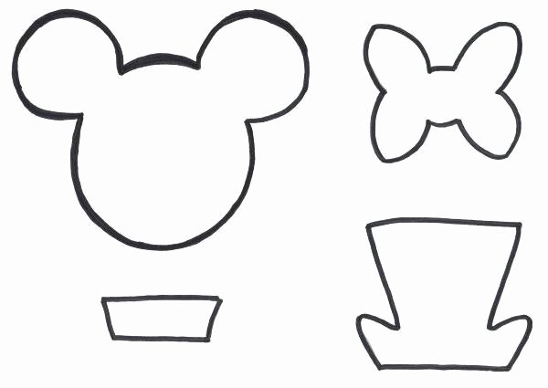 Mouse Cut Out Template Luxury Mickey Mouse Ears Printable
