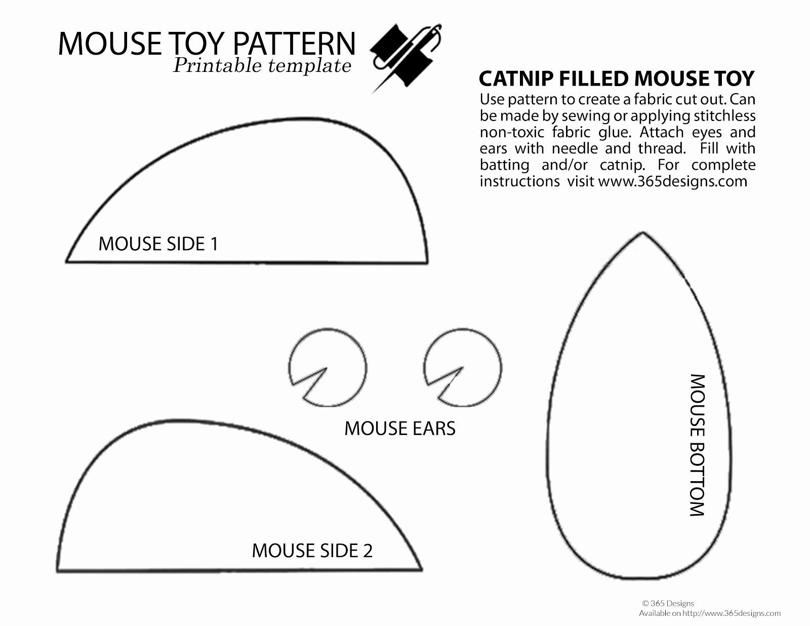 Mouse Cut Out Template Unique 365 Designs Diy Burlap and Denim Mouse toy