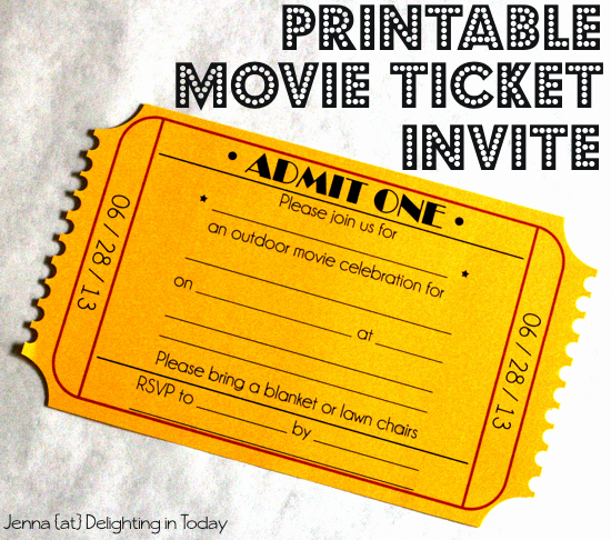 Movie Ticket Birthday Invitation Awesome Ticket Invitation On Pinterest