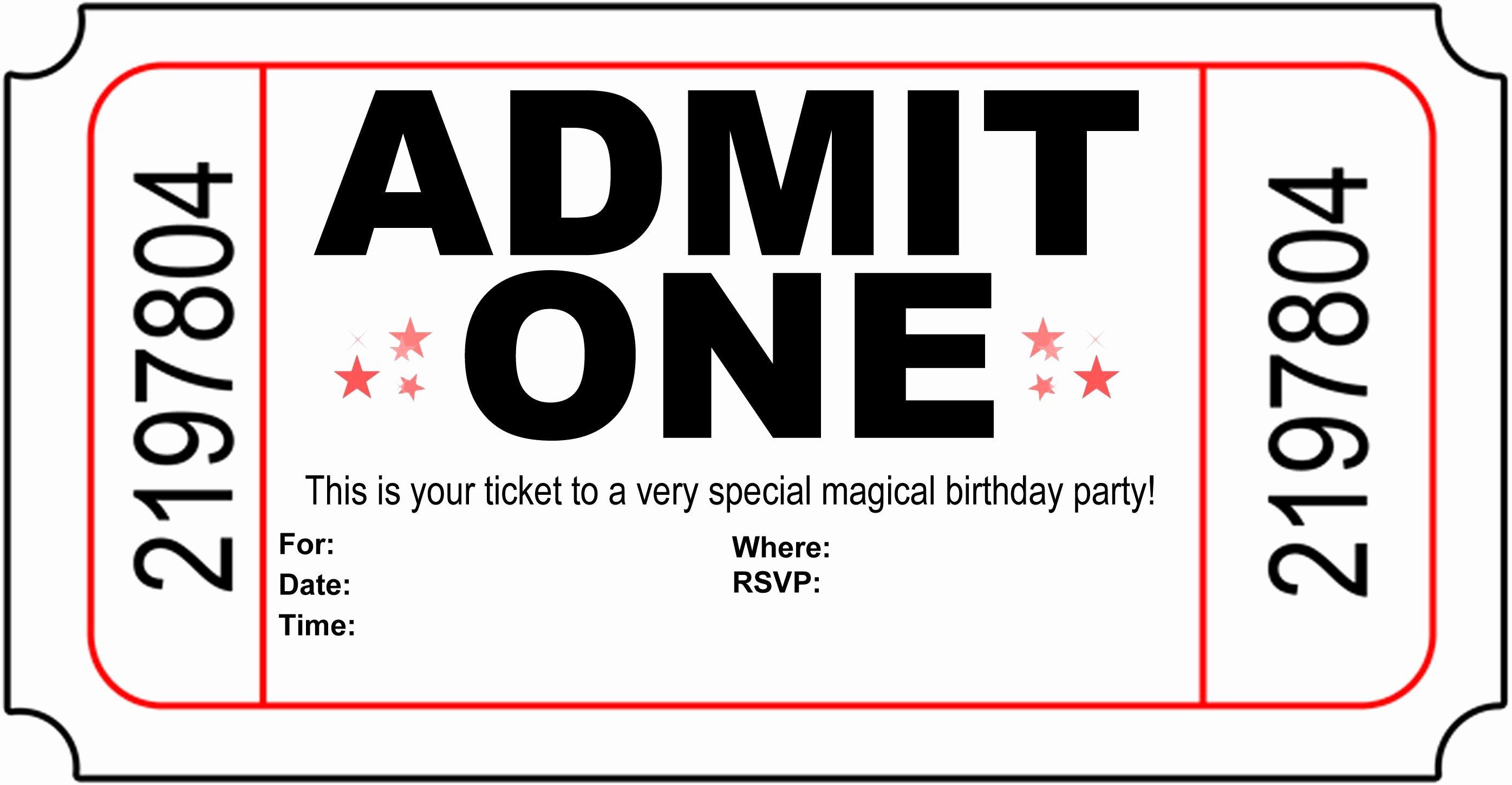 Movie Ticket Invitation Template Awesome Polar Express Invitation Template Free