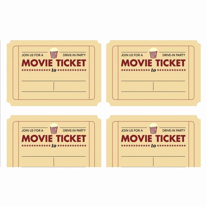 Movie Ticket Invitation Template Elegant Printable Movie Ticket Invitation From today S Parent