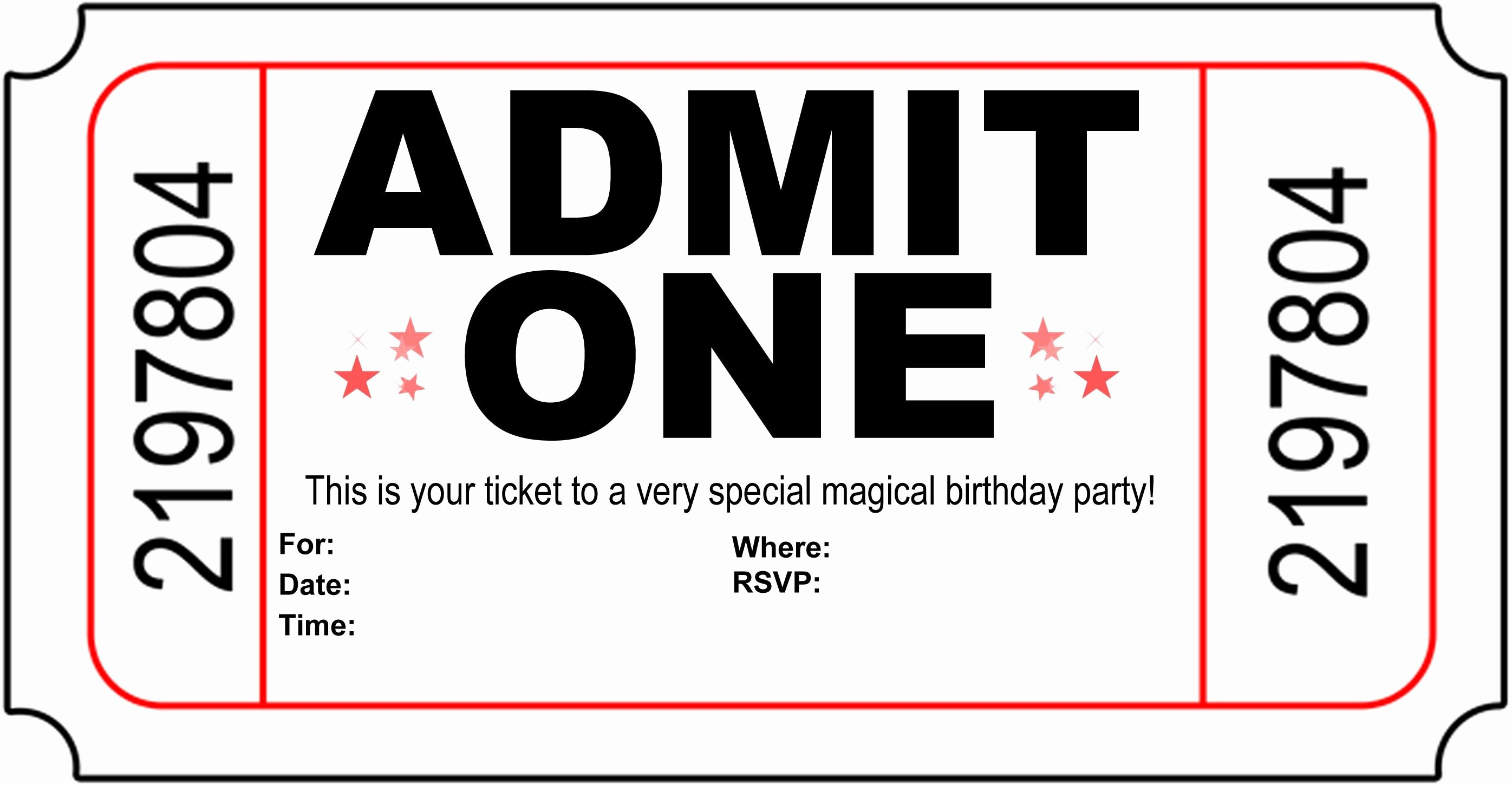 Movie Ticket Invitation Template Free Beautiful Polar Express Invitation Template Free