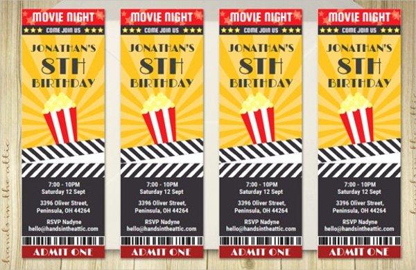 Movie Ticket Invitation Template Free Elegant 56 Printable Ticket Templates Psd Ai Word