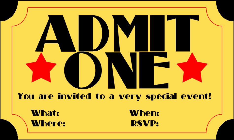 Movie Ticket Invitation Template Free Fresh Free Printable Invitation Movie Ticket Stub