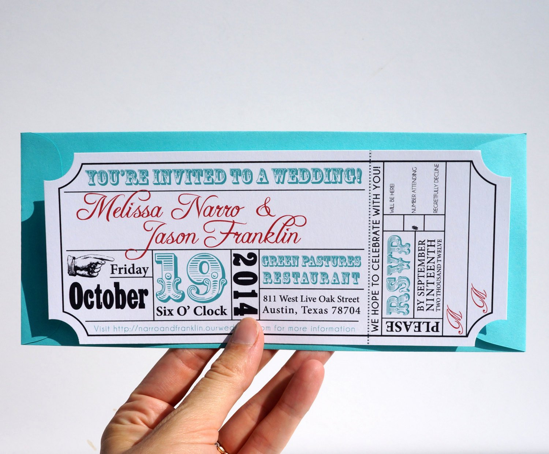 Movie Ticket Invitation Template Free New Movie Ticket Wedding Invitation