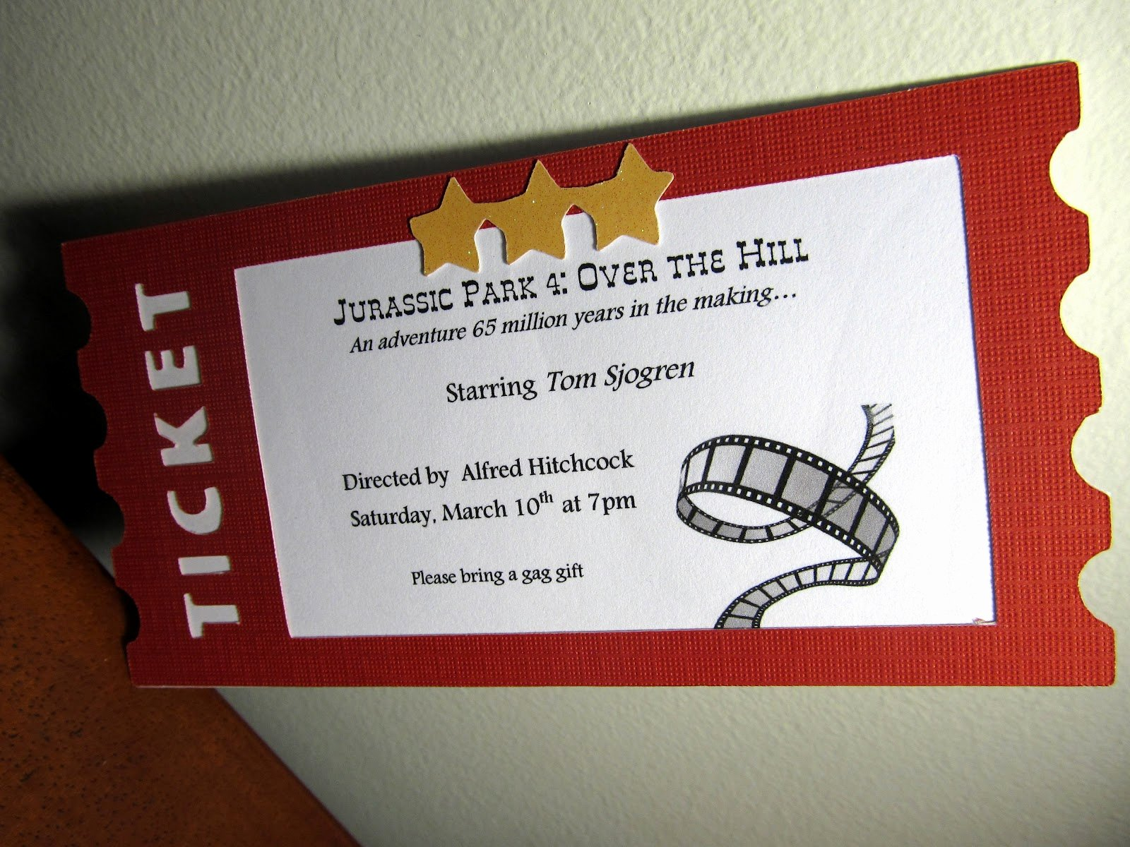 Movie Ticket Invitation Template Lovely the Singing Shell Movie Ticket Invitation