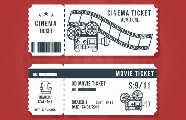 Movie Ticket Invitation Template Luxury 16 Free Ticket Design Templates for Download Designyep