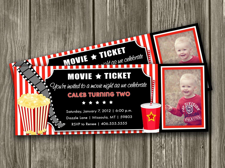 Movie Ticket Invitation Template New Movie Invitations Templates