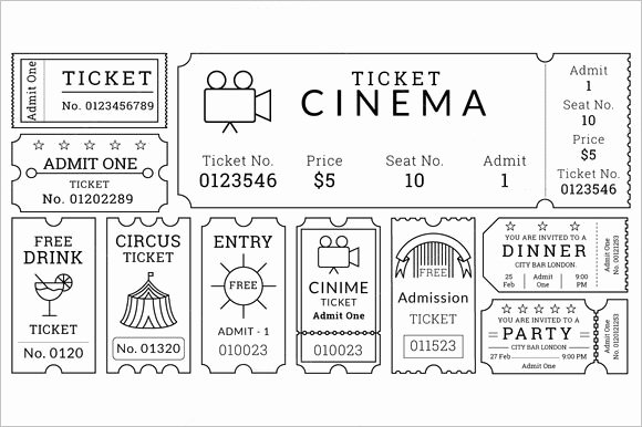 Movie Ticket Template Word Beautiful 30 Free Movie Ticket Templates Printable Word formats