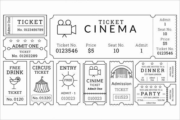 Movie Ticket Template Word Beautiful 30 Free Movie Ticket Templates Printable Word formats
