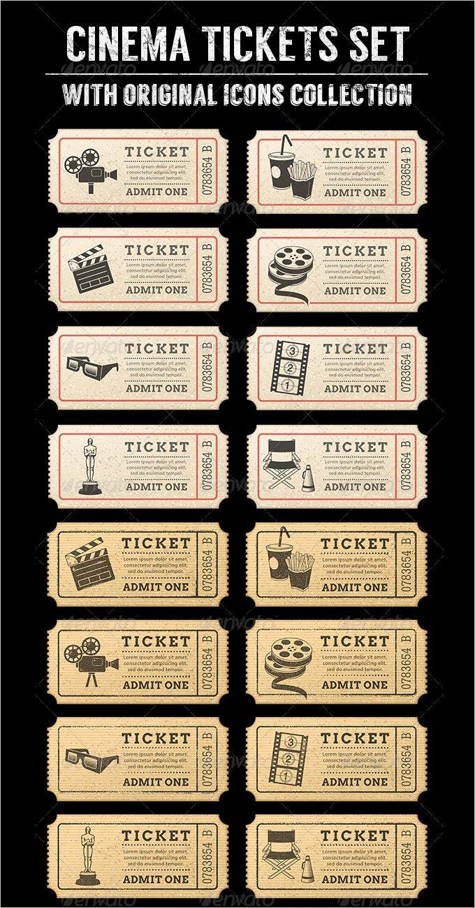 Movie Ticket Template Word Beautiful 34 Movie Ticket Templates Psd Ai Word