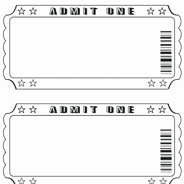 Movie Ticket Template Word Fresh Admit E Ticket Template Microsoft Word Anekantafo