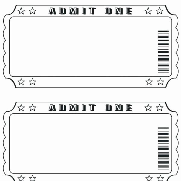 Movie Ticket Template Word Fresh Admit E Ticket Template Microsoft Word Anekantafo