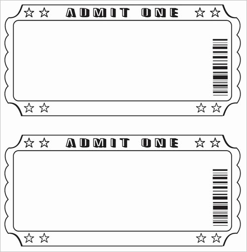 Movie Ticket Template Word Inspirational Free Raffle Ticket Template