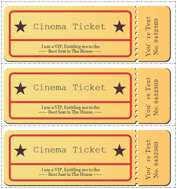 Movie Ticket Template Word Inspirational Movie Ticket Template 5 Free Printable Templates Word