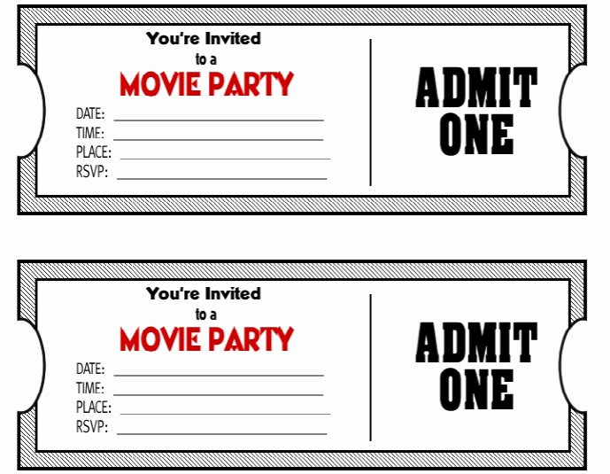 Movie Ticket Template Word Luxury 50 Free Raffle & Movie Ticket Templates Templatehub
