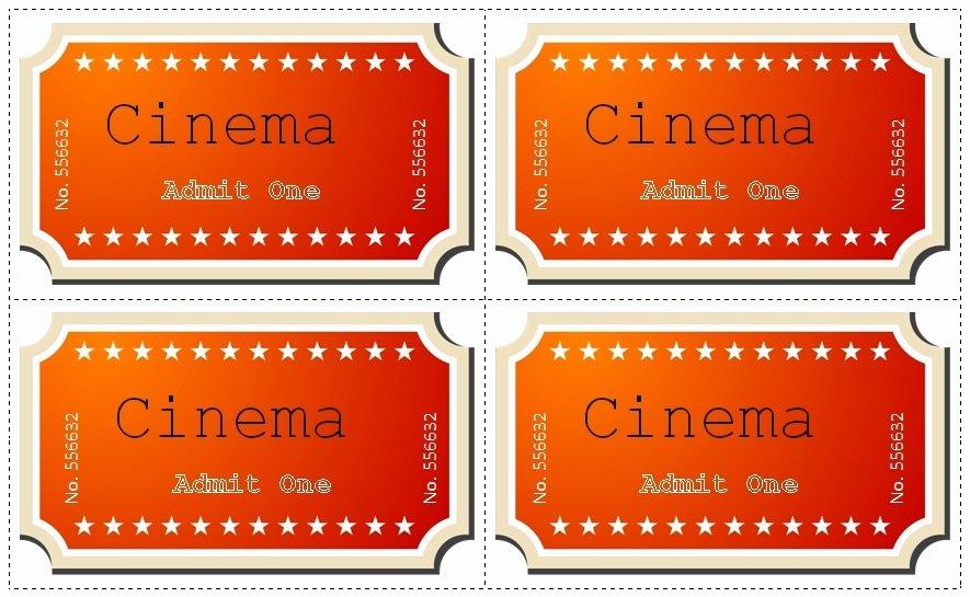 Movie Ticket Template Word Luxury Movie Ticket Template Free Beepmunk