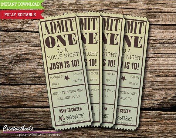 Movie Ticket Template Word Unique 33 Sample Amazing Movie Ticket Templates Psd Ai Word