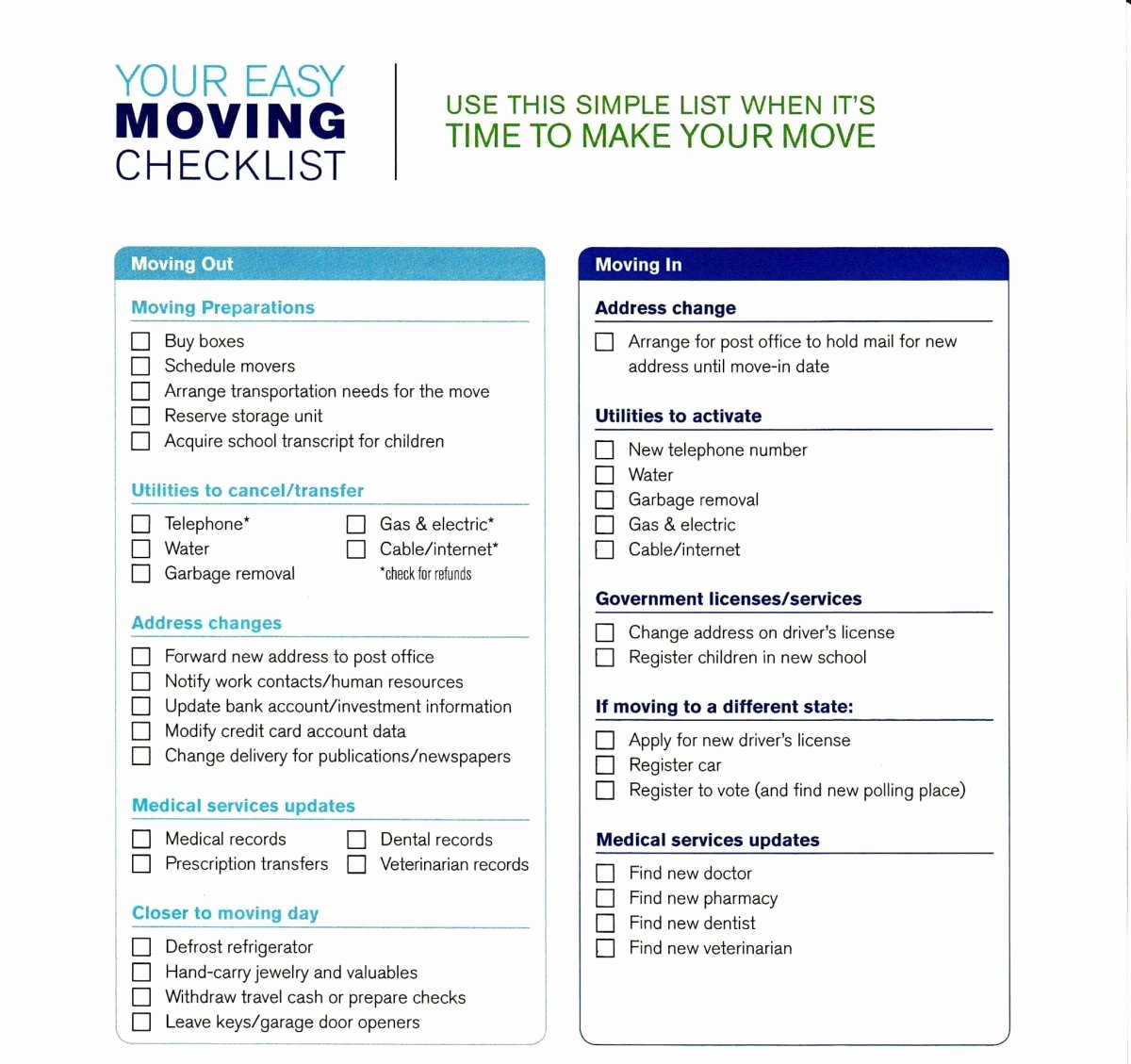 Moving Office Checklist Template Beautiful 5 Moving Checklist Templates – Word Templates