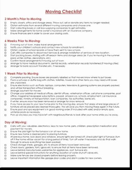 Moving Office Checklist Template Inspirational April 2018 Excel Template