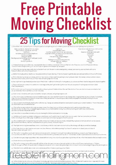 Moving Office Checklist Template Lovely Tips for Moving Plus A Free Printable Moving Checklist
