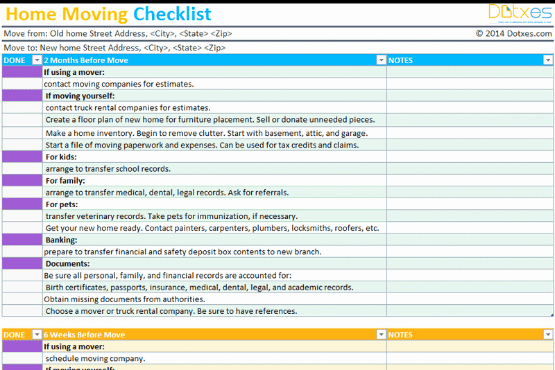 Moving Office Checklist Template New Home Moving Checklist Template Professional Version Dotxes