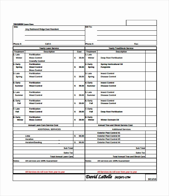 Mowing Schedule Template Inspirational Bid Sheet Template 14 Free Sample Example format