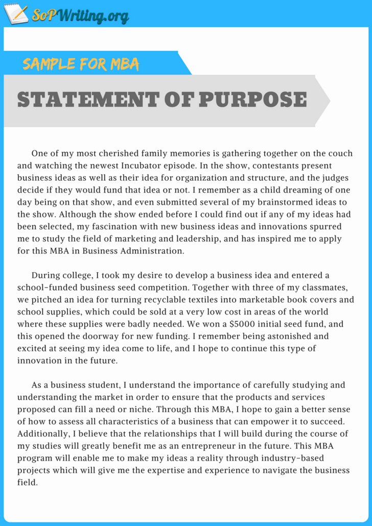 Mpa Personal Statement Sample Best Of Pin by sop Samples On Statement Of Purpose Sample for Mba