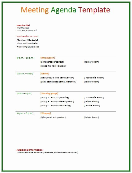 Ms Office Agenda Template Best Of Meeting Agenda Template Agendas