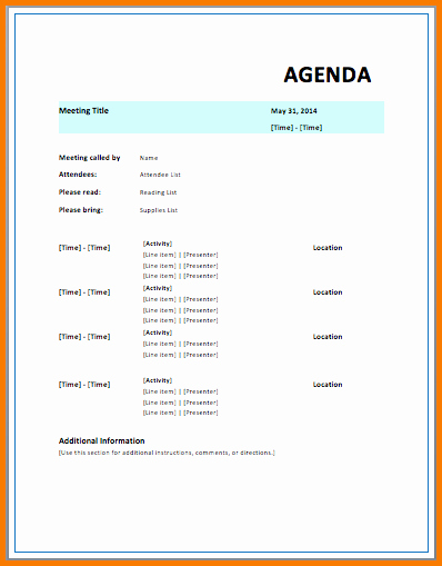 Ms Office Agenda Template Inspirational Microsoft Agenda Template