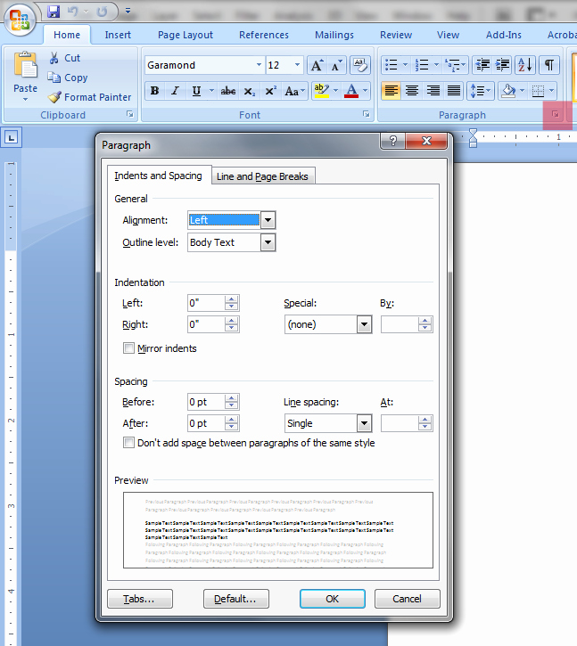 Ms Word Check Printing Template Elegant Modifying the Ms Word 2007 & 2010 normaltm Template