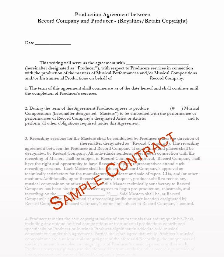 Music Artist Contract Template Inspirational Music Contracts Music Contract Templates Music Manager