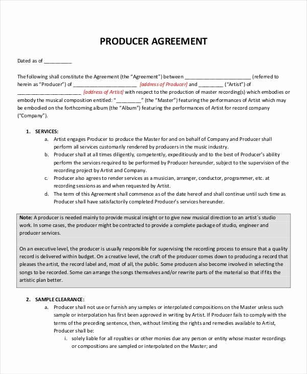 Music Performance Contract Template Luxury Music Performance Contract Durunugrasgrup