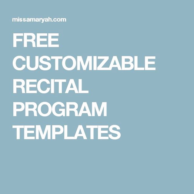 Musical Program Template Best Of 17 Best Images About Teaching Piano On Pinterest
