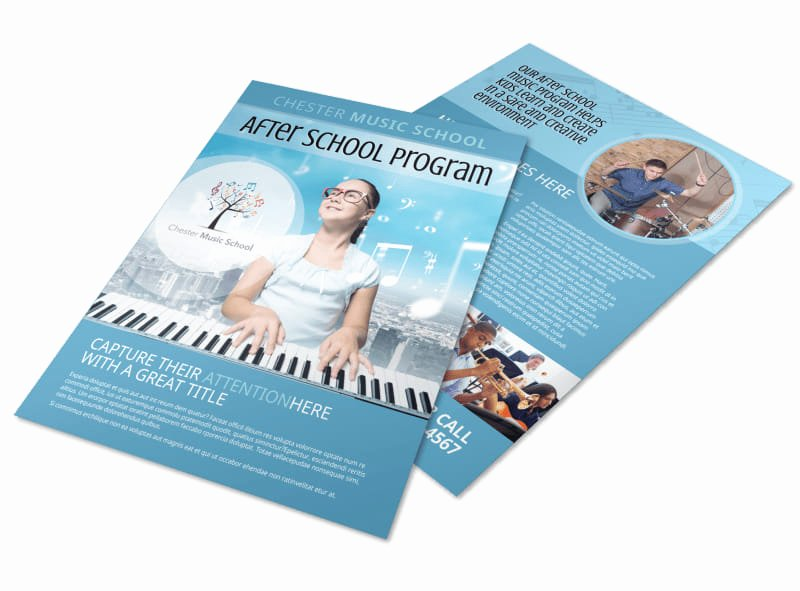 Musical Program Template Best Of after School Music Program Flyer Template