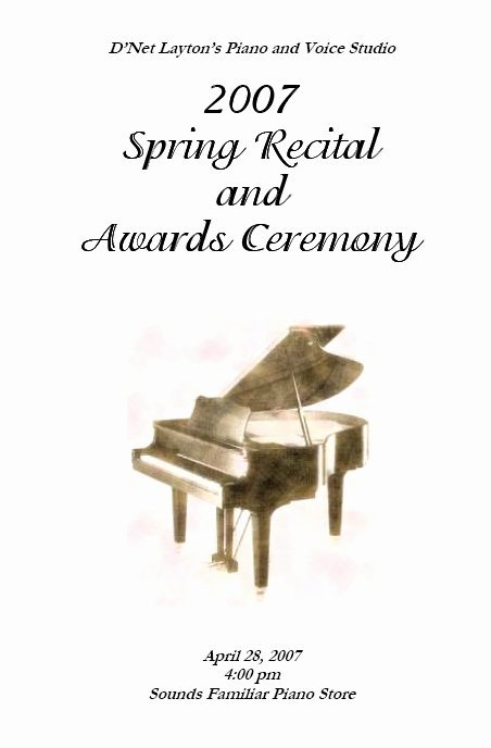 Musical Program Template Elegant Recital Program Templates