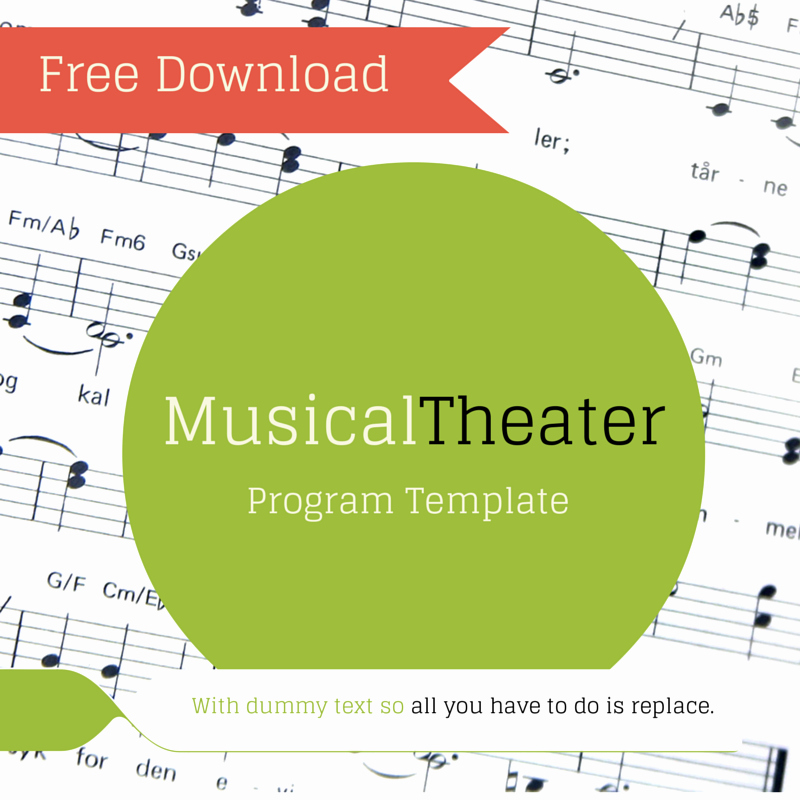 Musical Program Template Lovely Free Musical theater Program Template — theaterish