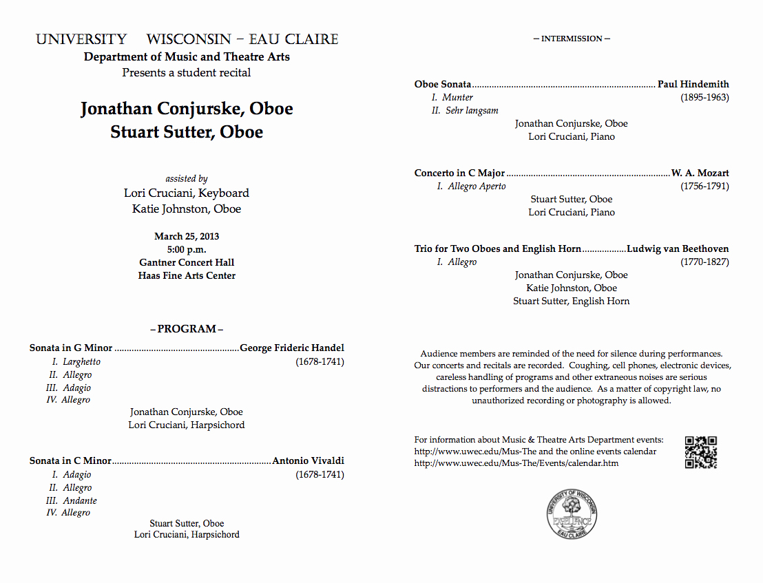 Musical Program Templates Awesome 28 Of Student Recital Program Template