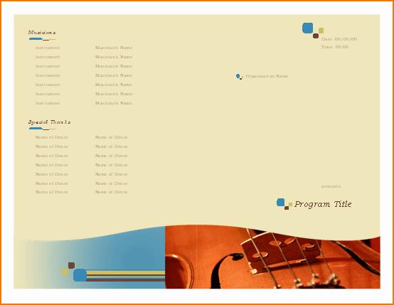 Musical Program Templates Luxury 6 Music Program Template