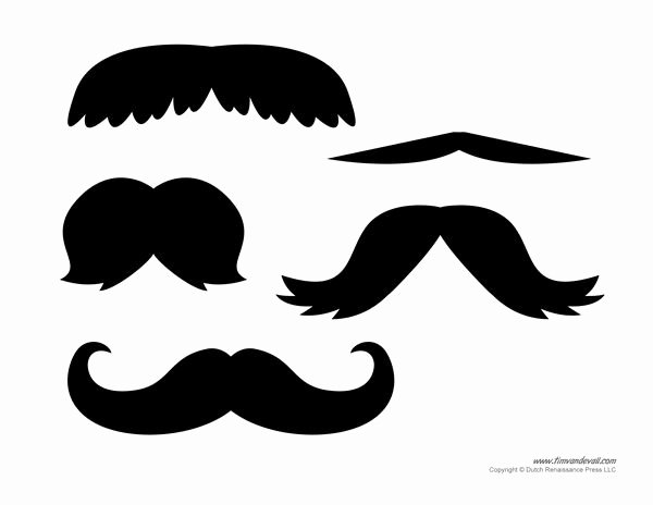 Mustache Cut Out Templates Awesome Best 25 Mustache Template Ideas On Pinterest