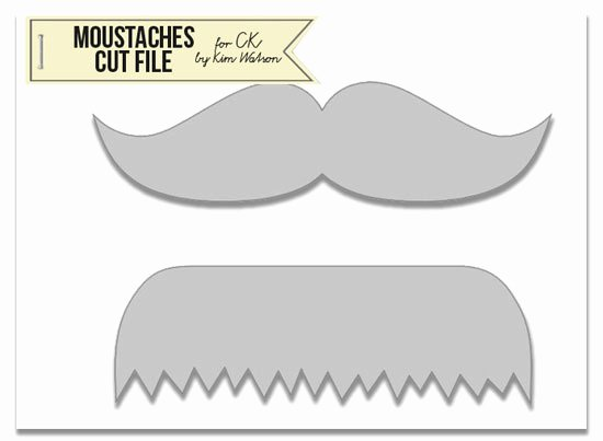 Mustache Cut Out Templates Awesome Free Mustache Template for Cards and Scrapbooks