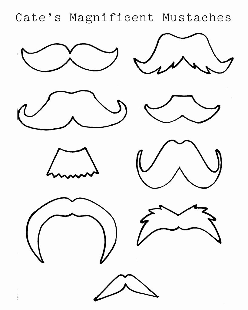 Mustache Cut Out Templates Awesome Jennifer Nack Designs Diy Mustache Cups