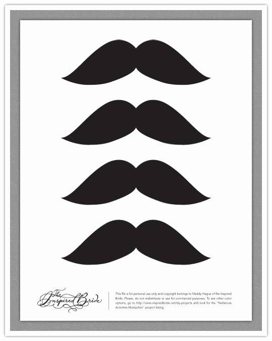 Mustache Cut Out Templates Inspirational Do It Yourself Project Nefarious Activities Mustaches
