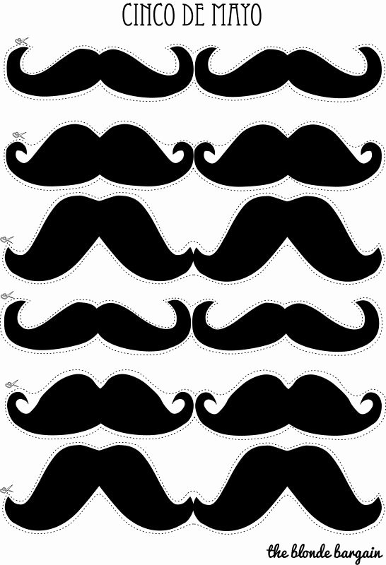 Mustache Cut Out Templates Luxury 21 Best Father S Day Crafts Images On Pinterest