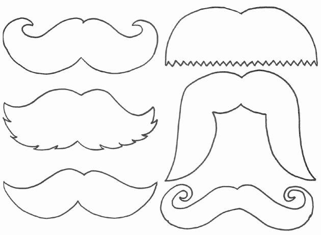 Mustache Pattern Printable Beautiful Free Mustache Printables Download Free Clip Art Free