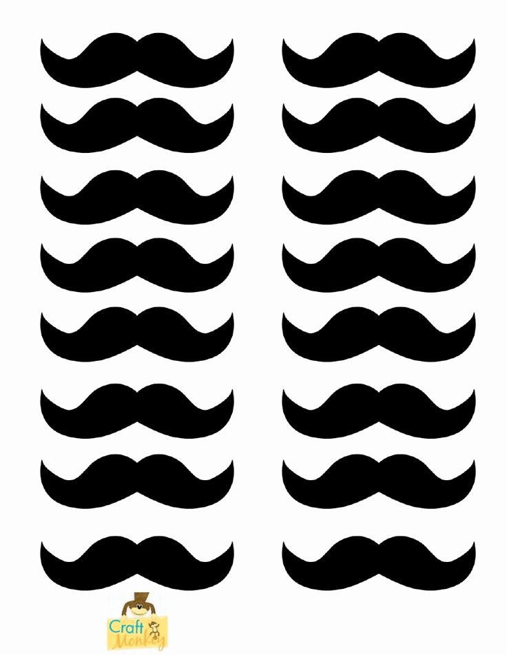 Mustache Pattern Printable Best Of Moustache Template Templates & Printables