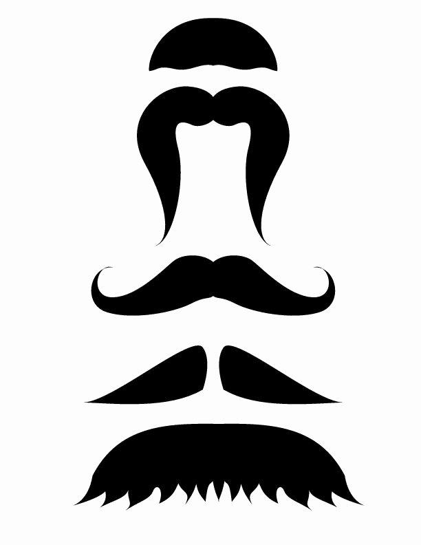 Mustache Pattern Printable Lovely Best 25 Mustache Template Ideas On Pinterest