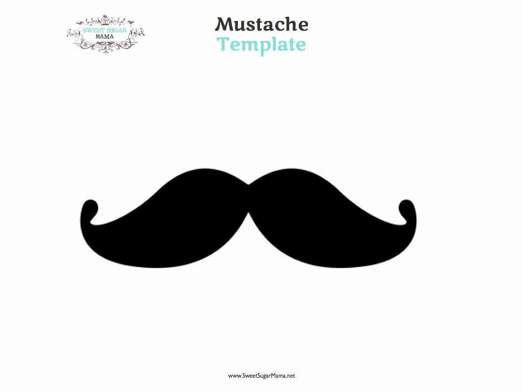 Mustache Pattern Printable Lovely Best S Of Cut Out Printable Mustache Template